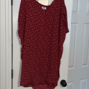 Red Old Navy tshirt cocoon dress